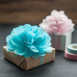 Diy tutorials for handmade tissue paper flowers diy tissue pom pom gift toppers tissue paper flowers mightylinksfo
