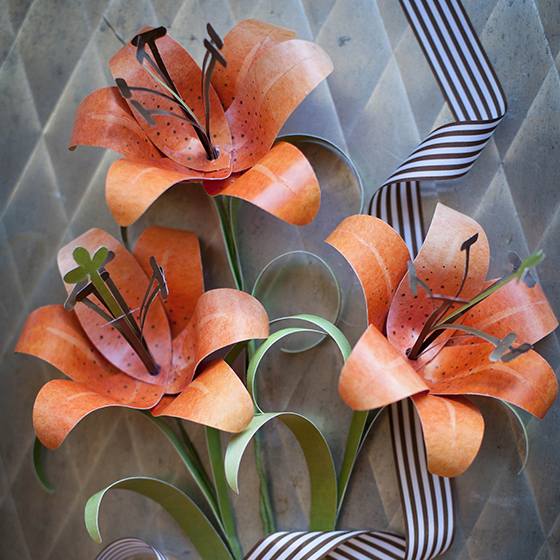 Follow this simple paper rose tutorial to make the perfect valentine make a paper tiger lily mightylinksfo Images