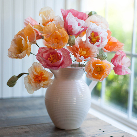 Diy tutorials for handmade tissue paper flowers diy tissue paper poppies tissue paper flowers mightylinksfo Gallery