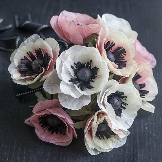 Diy tutorials for handmade tissue paper flowers diy tissue paper anemone tutorial tissue paper flowers mightylinksfo
