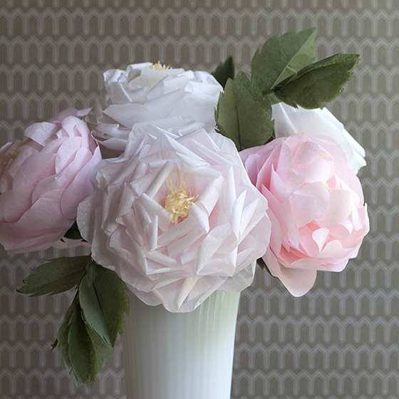 Diy tutorials for handmade tissue paper flowers mightylinksfo