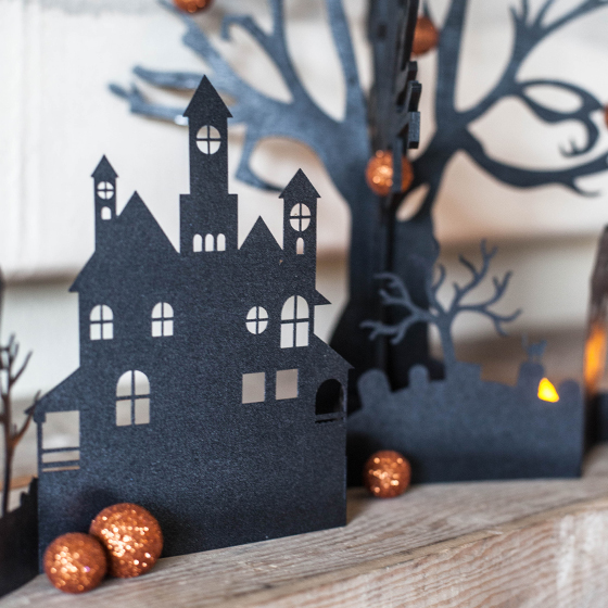paper village for your diy halloween decorations - Paper Halloween Decorations