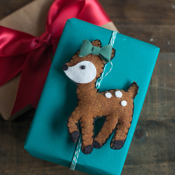 felt christmas bear ornament lia griffith