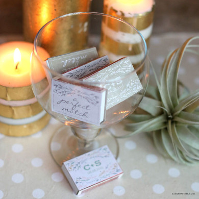 Honey Bee Wedding Tags - Lia Griffith