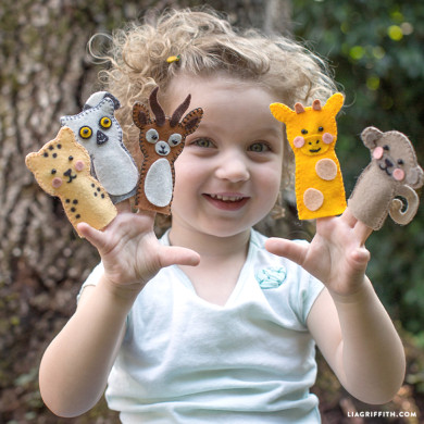 フェルトで「指人形」子供と一緒に遊びましょう♪