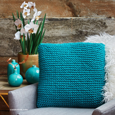 Knitted Pillow Pattern Pdf Lia Griffith