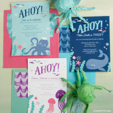 Browse inspiration ideas and projects for throwing great kids parties under the sea party invitations solutioingenieria Images