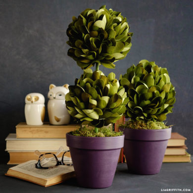 Topiary lia griffith crepe paper boxwood topiaries mightylinksfo