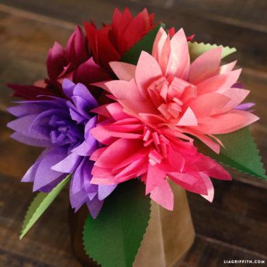 Diy tutorials for handmade tissue paper flowers tissue paper dahlias tissue paper flowers mightylinksfo