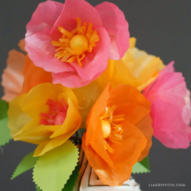 Diy tutorials for handmade tissue paper flowers frosted tropical tissue paper poppies tissue paper flowers mightylinksfo