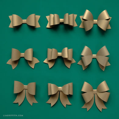 Fall Papercut Bows Lia Griffith