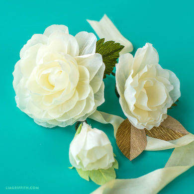 Patterns and tutorials to make paper wedding flowers at home simple crepe wedding flowers video junglespirit Gallery