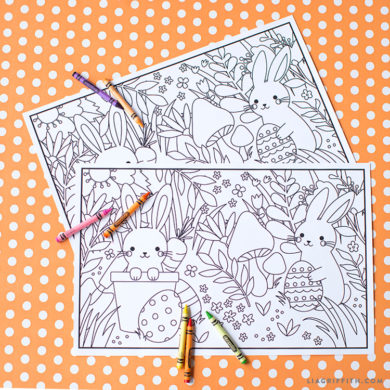 Kids Easter Coloring Placemats