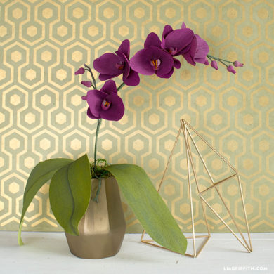crepe paper orchid template lia griffith