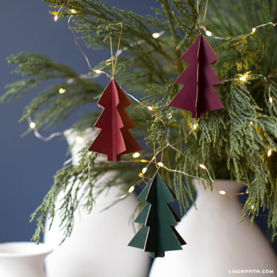 3d Paper Tree Ornament Template Lia Griffith
