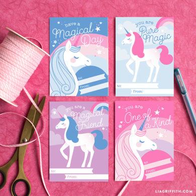 Unicorn Valentine S Day Cards Pdf Lia Griffith
