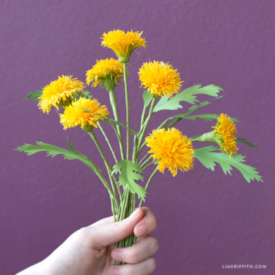101 stunning crepe paper flowers with easy diy tutorials crepe paper dandelion crepe paper flowers mightylinksfo