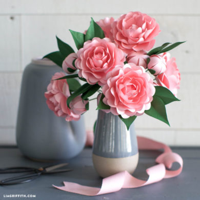 137 paper flowers with diy templates and tutorials frosted paper camellia flower mightylinksfo