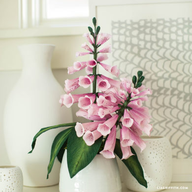 101 stunning crepe paper flowers with easy diy tutorials crepe paper foxglove crepe paper flowers mightylinksfo