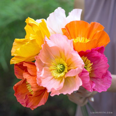 160 stunning crepe paper flowers with easy diy tutorials august member make challenge advanced icelandic poppy flowers crepe paper flowers mightylinksfo