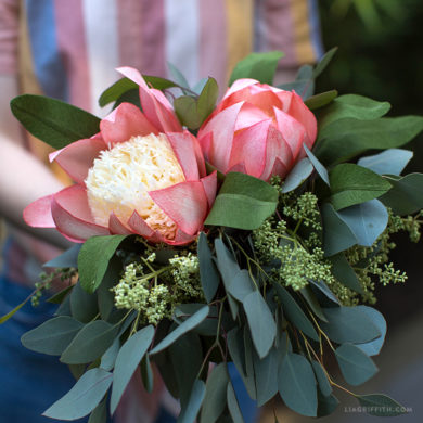 159 stunning crepe paper flowers with easy diy tutorials crepe paper protea flower bouquet mightylinksfo
