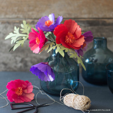 Diy tutorials for handmade tissue paper flowers tissue paper cosmos flowers mightylinksfo