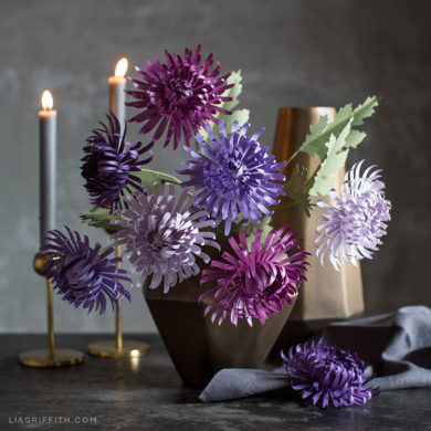 137 paper flowers with diy templates and tutorials paper spider chrysanthemums frosted paper flowers mightylinksfo