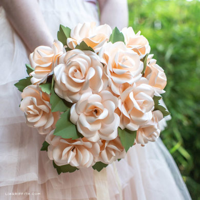 277 paper flower tutorials that you can follow today video tutorial frosted paper rose bridal bouquet wedding flowers mightylinksfo