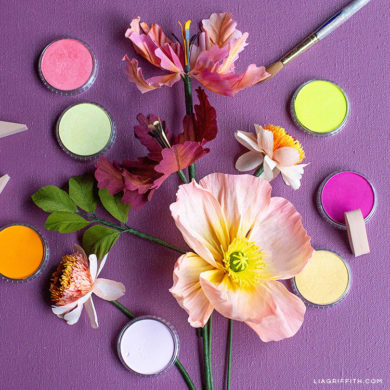 video tutorial how to color your diy flowers with panpastel