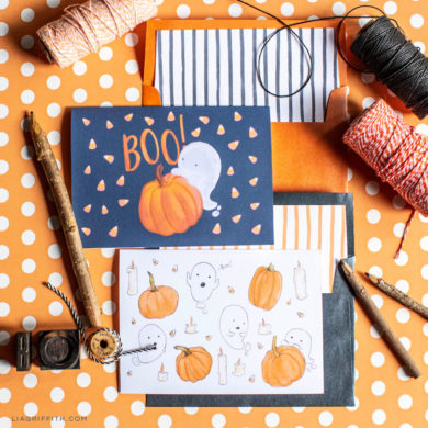 Printable cards lia griffith free printable halloween greeting cards m4hsunfo