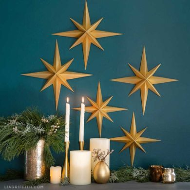 Holiday Paper Star Pdf Template Lia Griffith