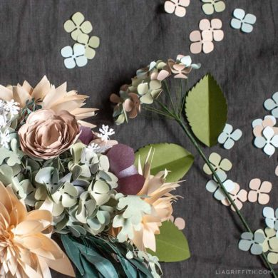 Paper flower tutorials that you can follow today video tutorial paper hydrangea arrangements paper flowers videos mightylinksfo