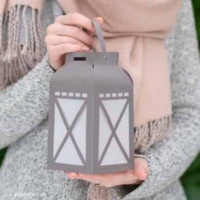 lantern template pdf  Papercut Garden Lantern PDF Template - Lia Griffith