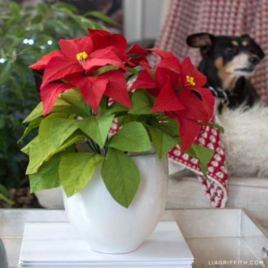 Paper flower tutorials that you can follow today heavy crepe paper poinsettia plant mightylinksfo